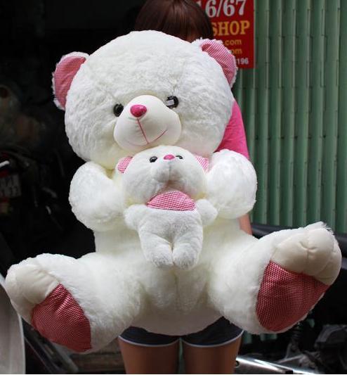 Gấu Bông mẹ bồng con