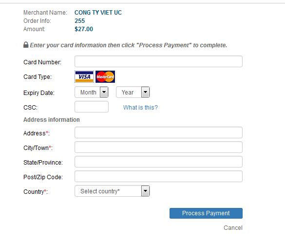 Mua thẻ Điện Thoại Viettel bằng thẻ Visa Card hay thẻ Master Card