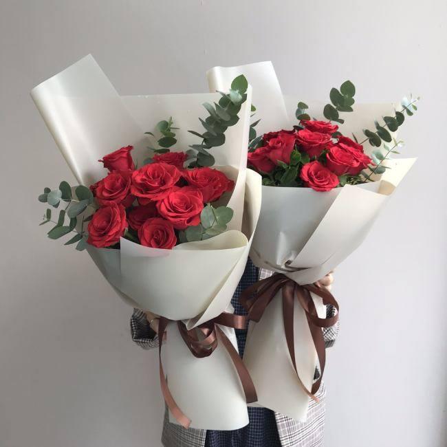 11 bông hoa hồng tươi