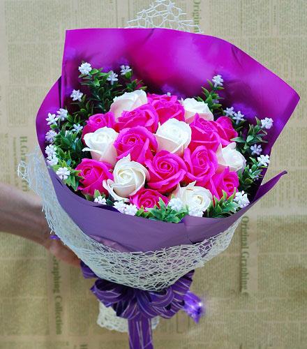 Hoa hồng Sáp Thơm 19 bông