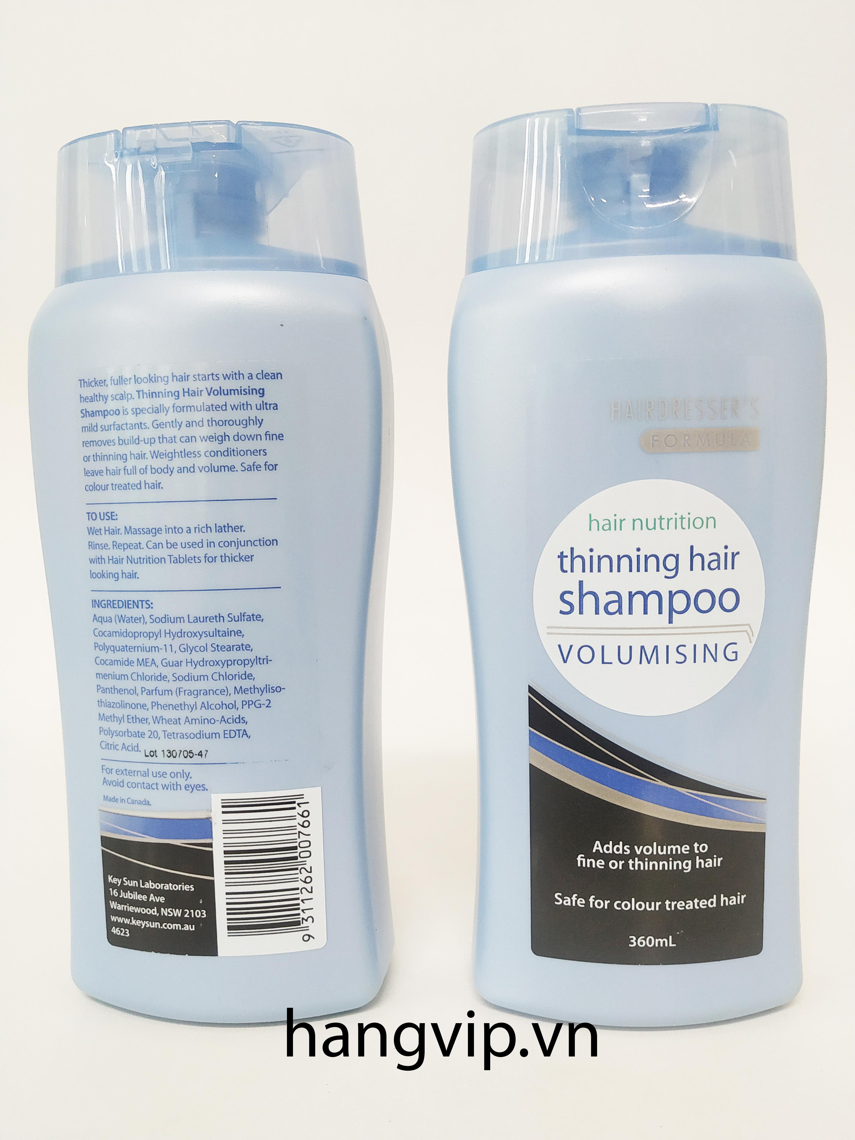 Dầu gội chống rụng tóc Thinning Hair Shampoo