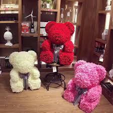 Gấu Bông Hoa Hồng Sáp