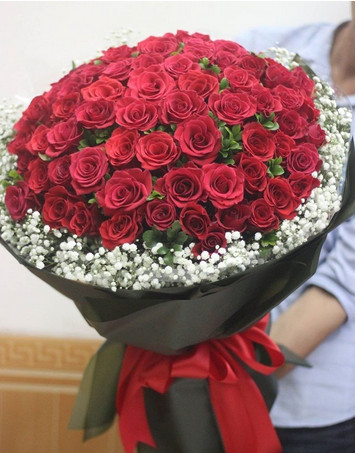 100 hoa hồng tươi