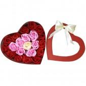 Hộp trái tim 21 bông hồng đỏ