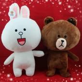 Thỏ Bông Cony và Gấu Brown