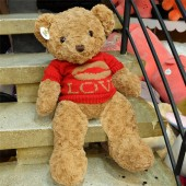 Gấu Teddy Russ áo len đỏ LOVE