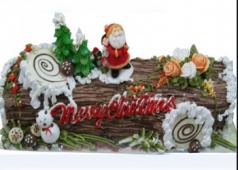 Bánh Kem Noel Hình Khúc Gỗ