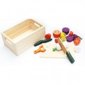 Bộ cắt rau củ quả bằng gỗ