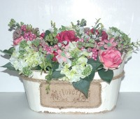 Chậu gỗ cắm hoa 03