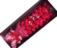 Hoa hồng sáp 52 bông đỏ