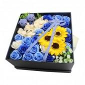Hoa hồng sáp thơm set xanh