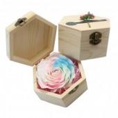 Hoa sáp hộp gỗ phát sáng