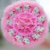 11 Hello Kitty Bông Lông Vũ Hồng