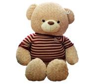 Gấu Teddy Áo len sọc cafe sữa